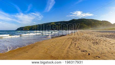 The sea the sand and landscape of Tucuns beach in Buzios city Rio de Janeiro