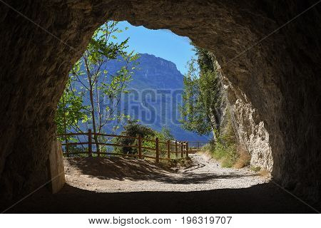 Tunnel At Bike Route Old Ponale Road, Riva