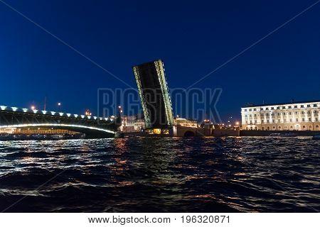 A Trinity Bridge in St. Petersburg, Russia