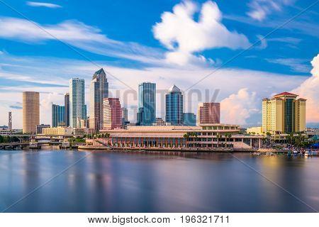 Tampa, Florida, USA downtown city skyline.