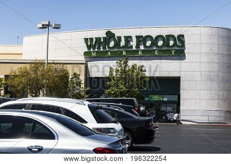 Las Vegas - Circa July 2017: Whole Foods Market. Amazon announced an agreement to buy Whole Foods for $13.7 billion VI
