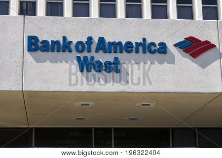 Las Vegas - Circa July 2017: Bank of America Bank and Loan Branch. Bank of America is a Banking and Financial Services Corporation V