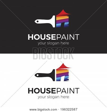 House Paint. Logo template for your business