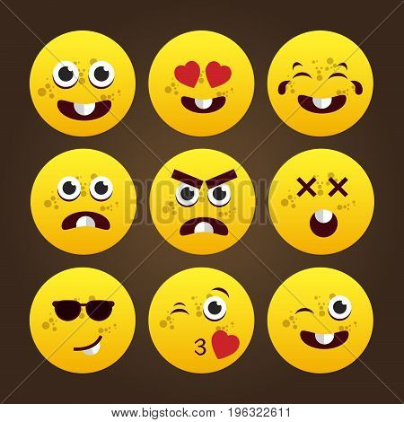 Yellow Cartoon Emoticons. Logo template for your business