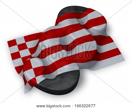 paragraph symbol and flag of bremen - 3d rendering