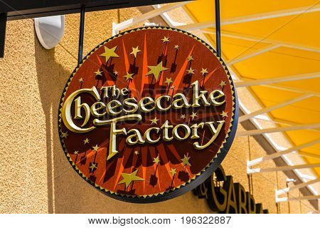 Las Vegas - Circa July 2017: The Cheesecake Factory Casual Restaurant Location. The Cheesecake Factory makes and distributes their signature Cheesecake II