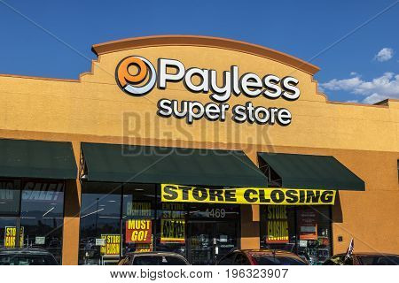 Las Vegas - Circa July 2017: Payless ShoeSource Retail Strip Mall Location. Payless ShoeSource sells shoes at a discount and is privately held by Blum Capital IV