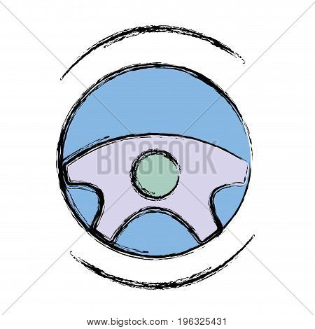 steering wheel futuristic car innovation vector illustration