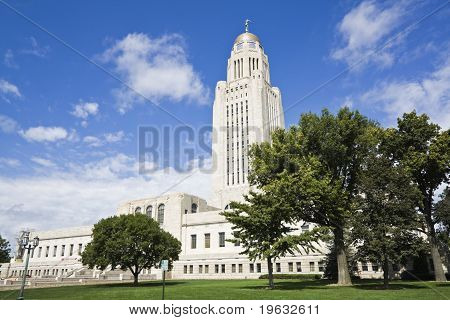 Lincoln Nebraska - State Capitol Building with the trees poster