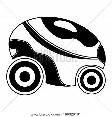 contour futuristic car with modern elements design vector illustration