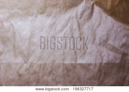Crumpled, Grungy Paperbag Background