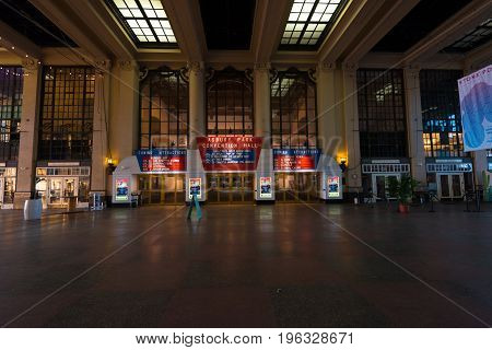 Asbury Park NJ USA -- July 21 2017--Inside Convention Hall in Asbury Park NJ. Editorial Use Only