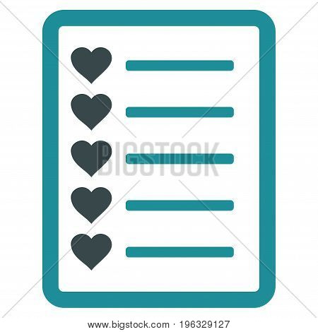 Favourites List Page flat icon. Vector bicolor soft blue symbol. Pictogram is isolated on a white background. Trendy flat style illustration for web site design, logo, ads, apps, user interface.