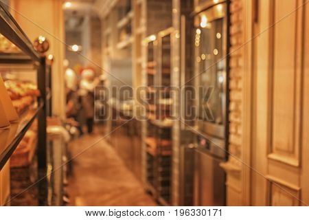 Blurred view of bakery