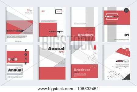 Business Brochure cover design with simple shapes. Minimalistic design of annual report