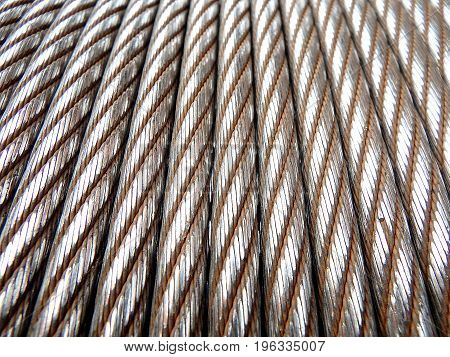 Steel rope background texture , Steel rope