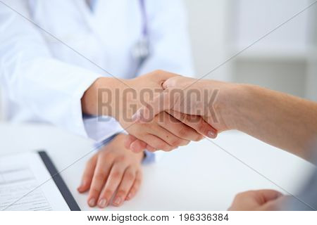 Partnership, trust and medical ethics. Health care and medicine concept