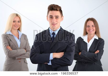 Group of business people, start-up team in business