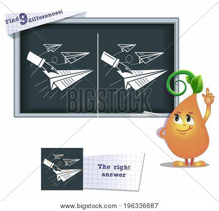 Game Find 9 Differences Paper Airplane