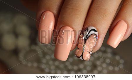 Delicate Manicure Design Nail Polish Gel