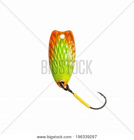 Fishing lure for trout fishing. High resolution photo.