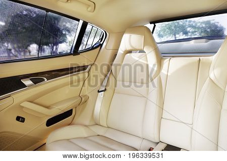 luxury car driving on the road  side