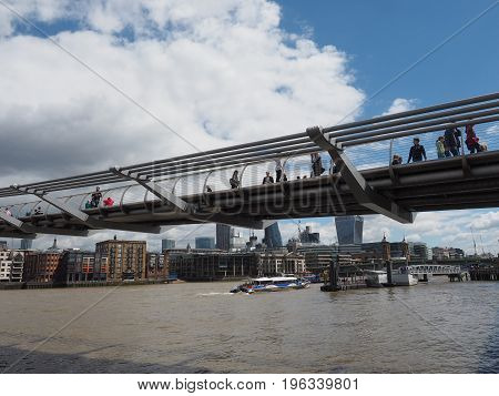 Millennium Bridge In London