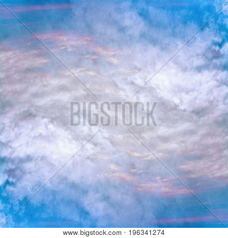 Abstract celestial blue pattern. Skiey artistic background.