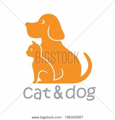 Cat and Dog Pet Logo Template Illustration Vector
