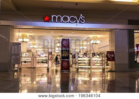 Las Vegas - Circa July 2017: Macys Department Store. Macy's Inc. is one of the Nation's Premier Omnichannel Retailers VIII