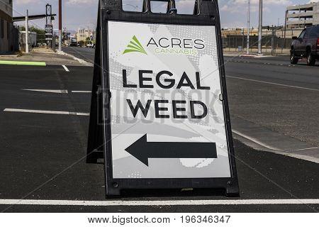 Las Vegas - Circa July 2017: Acres Cannabis Marijuana Store Dispensary. As of 2017 Recreational Pot is legal in Nevada VI