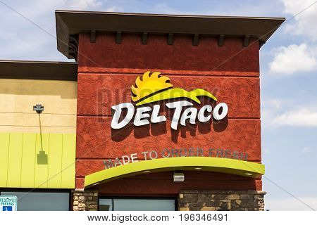 Las Vegas - Circa July 2017: Del Taco Fast Food Location. Del Taco specializes in Mexican and American food IV