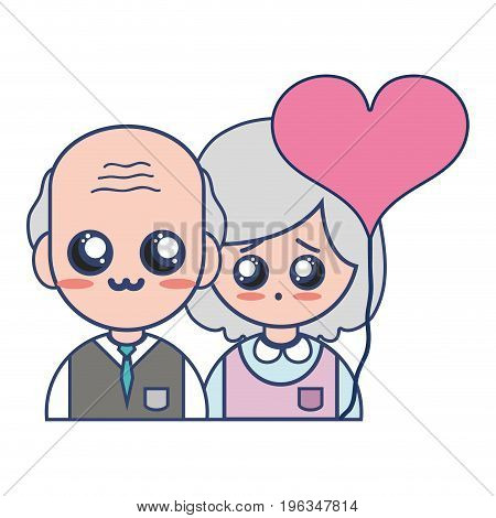 couple together with relationships romance and balloon heart vector illustration