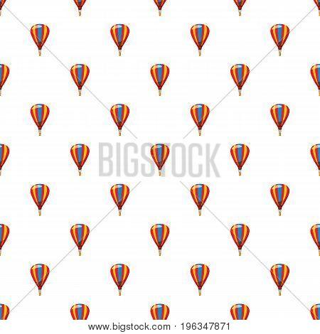 Balloon pattern seamless repeat in cartoon style vector illustration