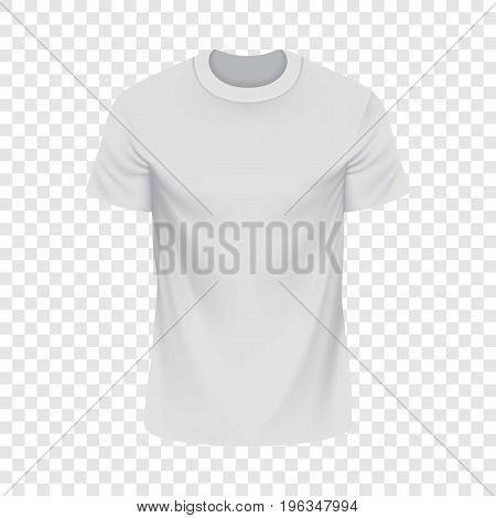 White Tshirt mockup. Realistic illustration of white Tshirt vector mockup for web