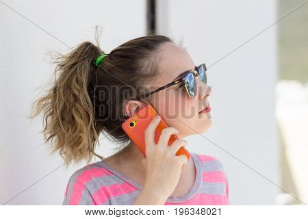 Young Modern Woman Using Her Cellphone