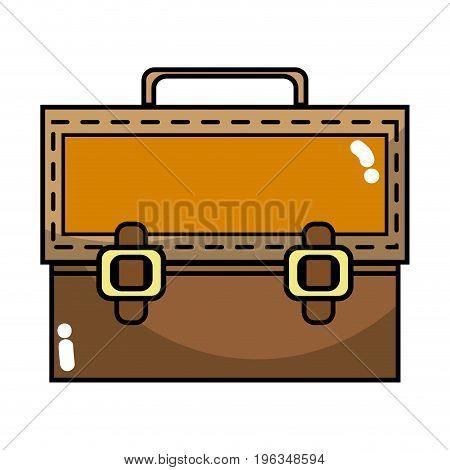 elegant briefcase to save important document vector illustration