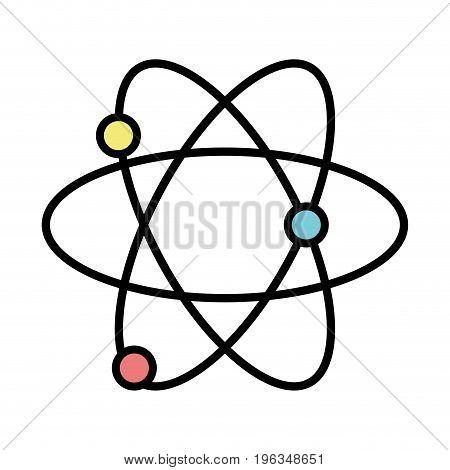physics atom chemistry science education vector illustration