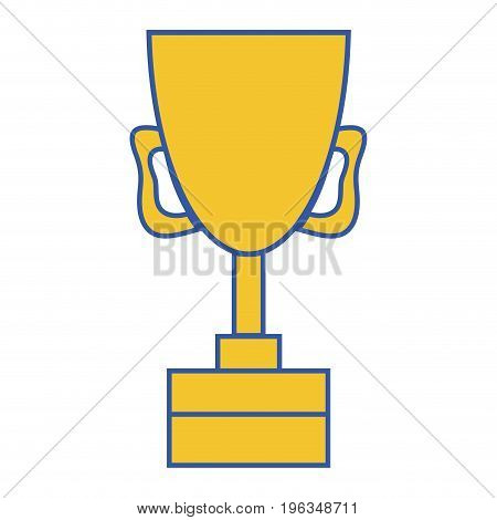 cup prize symbol to winner of competition game vector illustration