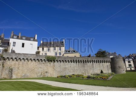 Vannes, medieval city of Brittany in France