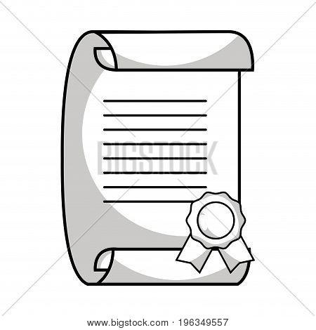 line graduation certificate document to grade celebration vector illustration