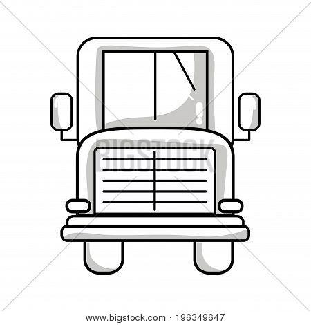 line school bus to children transportation vector illustration
