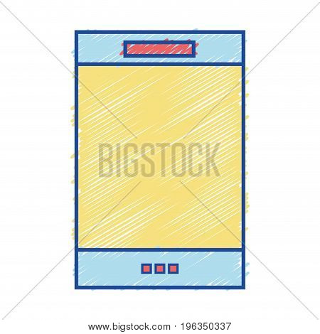 smartphone electronic technology to communication and talk vector illustration