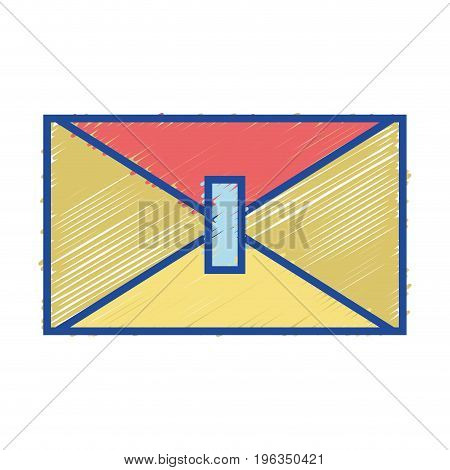 card symbol to send important message vector illustration