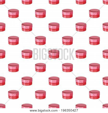 Round cardboard box in cartoon style isolated on white background vector illustration
