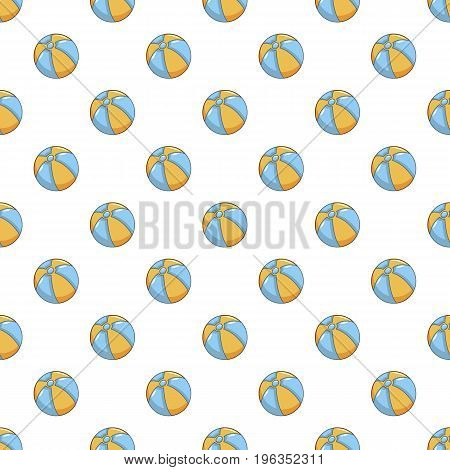Ball pattern seamless repeat in cartoon style vector illustration