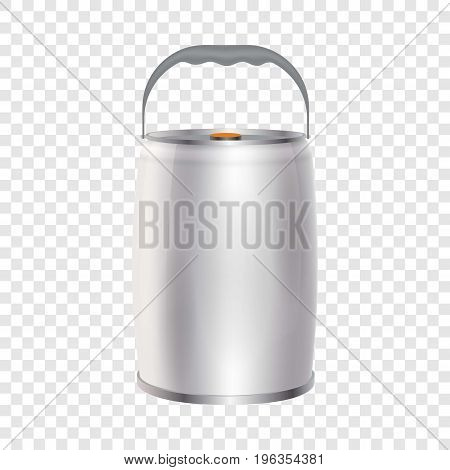 Metal container can for beverage mockup. Realistic illustration of metal container can for beverage blank paint buckets vector mockup for web