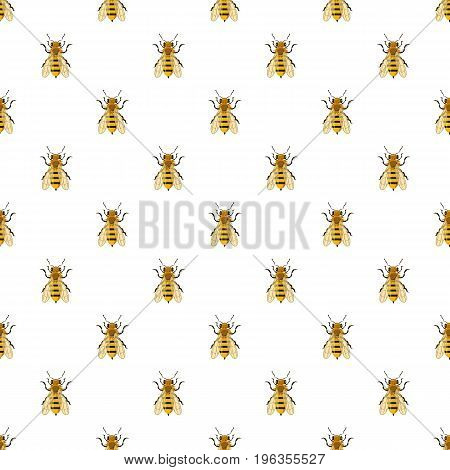 Insects bee pattern seamless repeat in cartoon style vector illustration