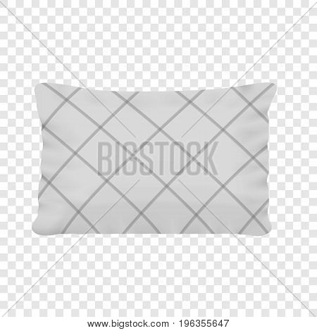 Rectangular pillow mockup. Realistic illustration of rectangular pillow vector mockup for web