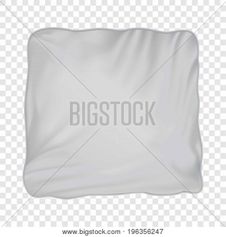 Pillow mockup. Realistic illustration of pillow vector mockup for web